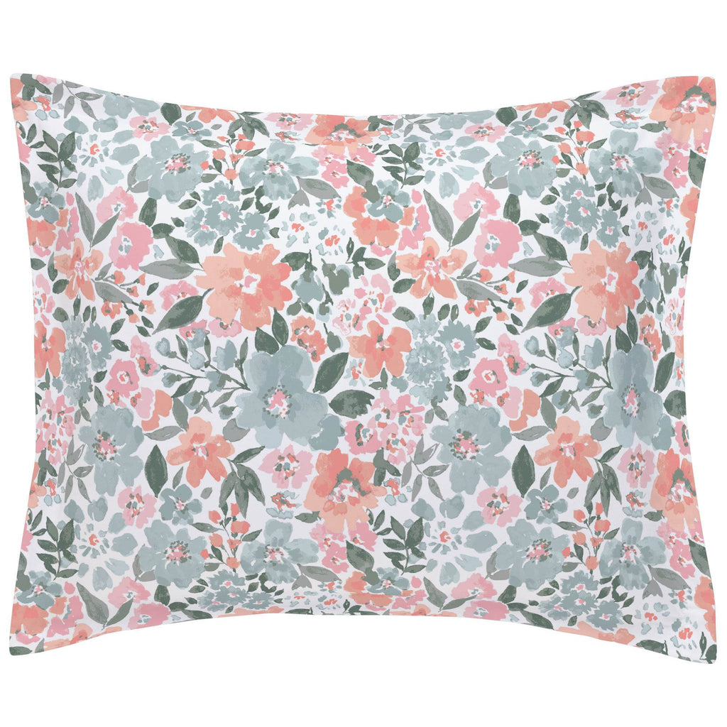 Product image for Peach Prairie Floral Pillow Sham