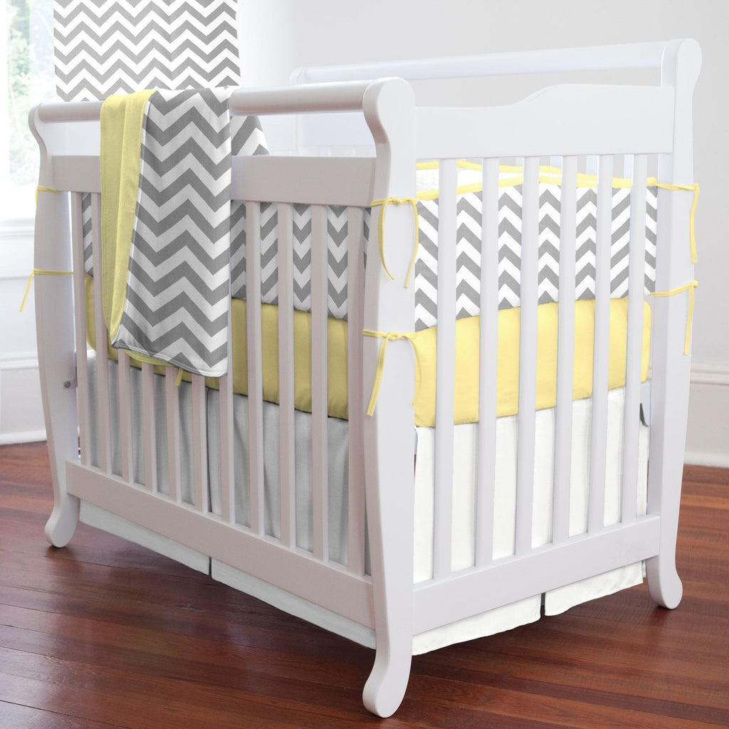 Product image for Solid Antique White Mini Crib Skirt