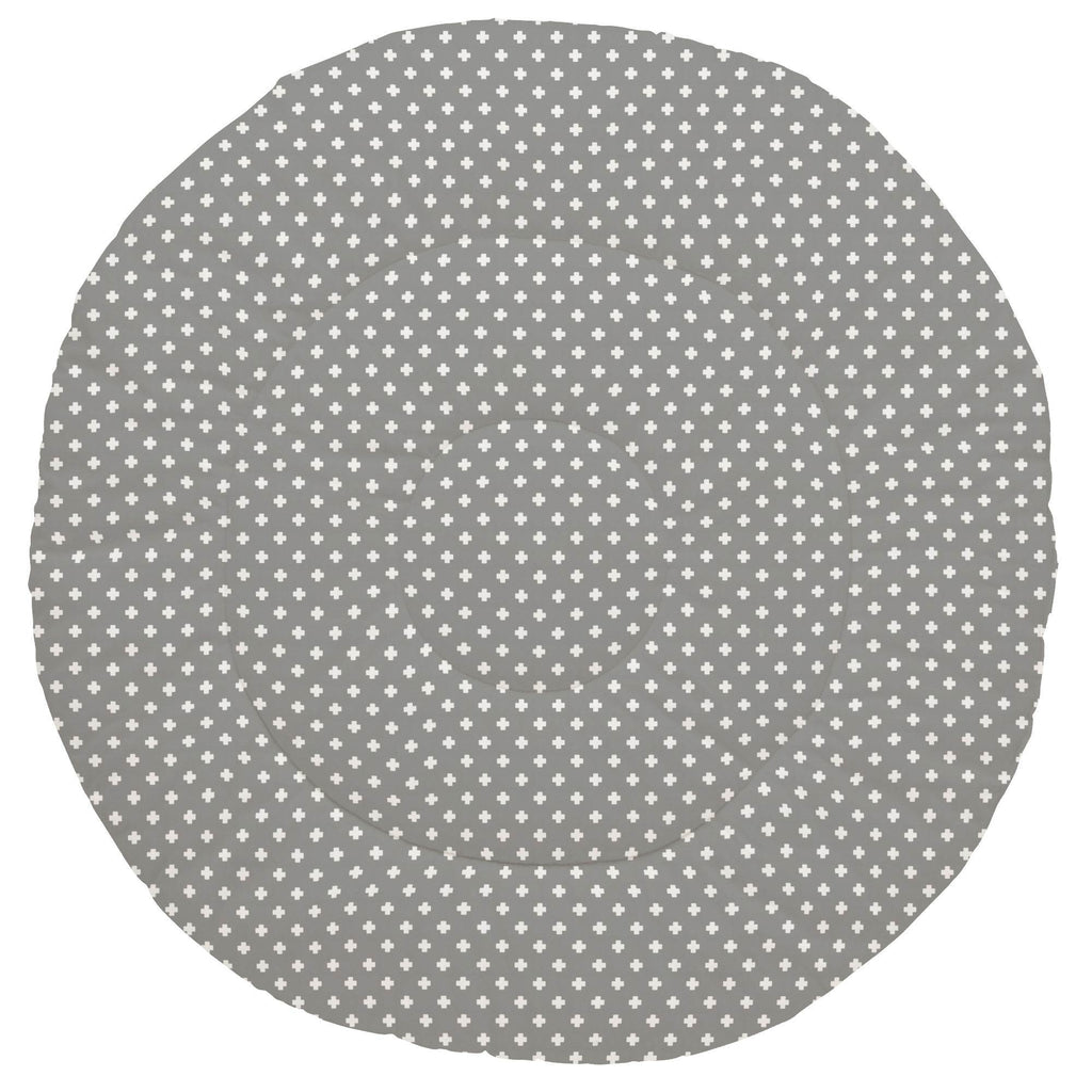 Product image for Gray Mini Swiss Cross Baby Play Mat