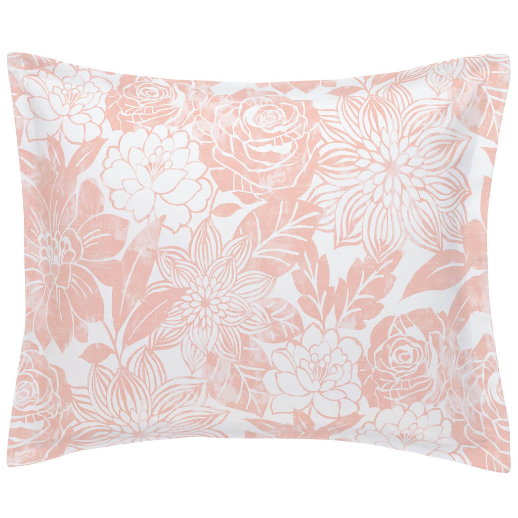 Product image for Peach Modern Blooms Pillow Sham