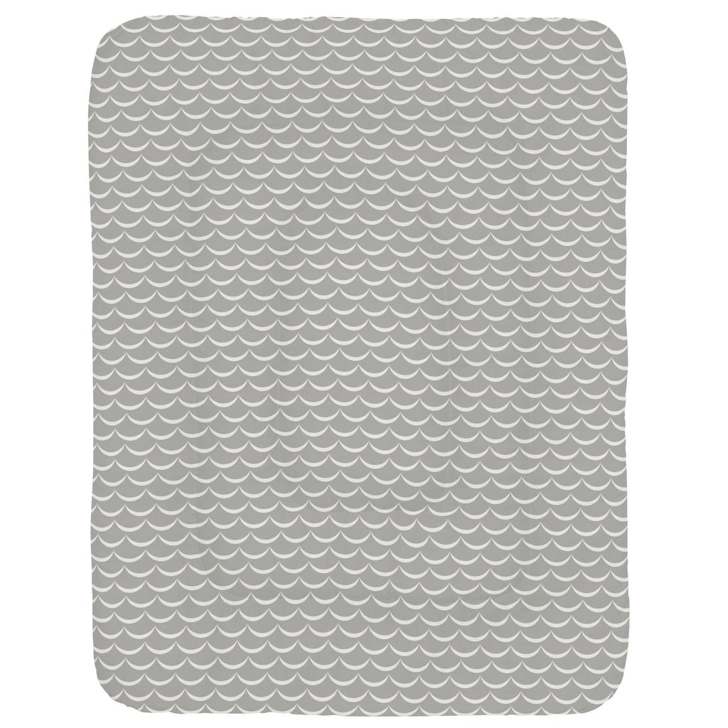 Product image for Silver Gray Waves Crib Comforter