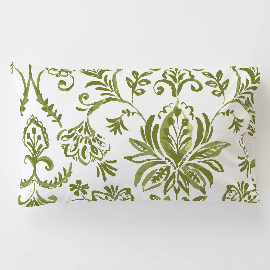 Product image for Sage Coastal Damask Toddler Pillow Case with Pillow Insert
