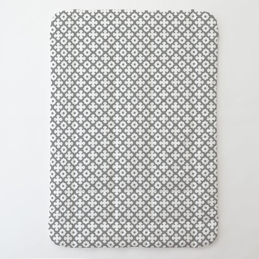 Product image for Cloud Gray Moroccan Tile Toddler Comforter
