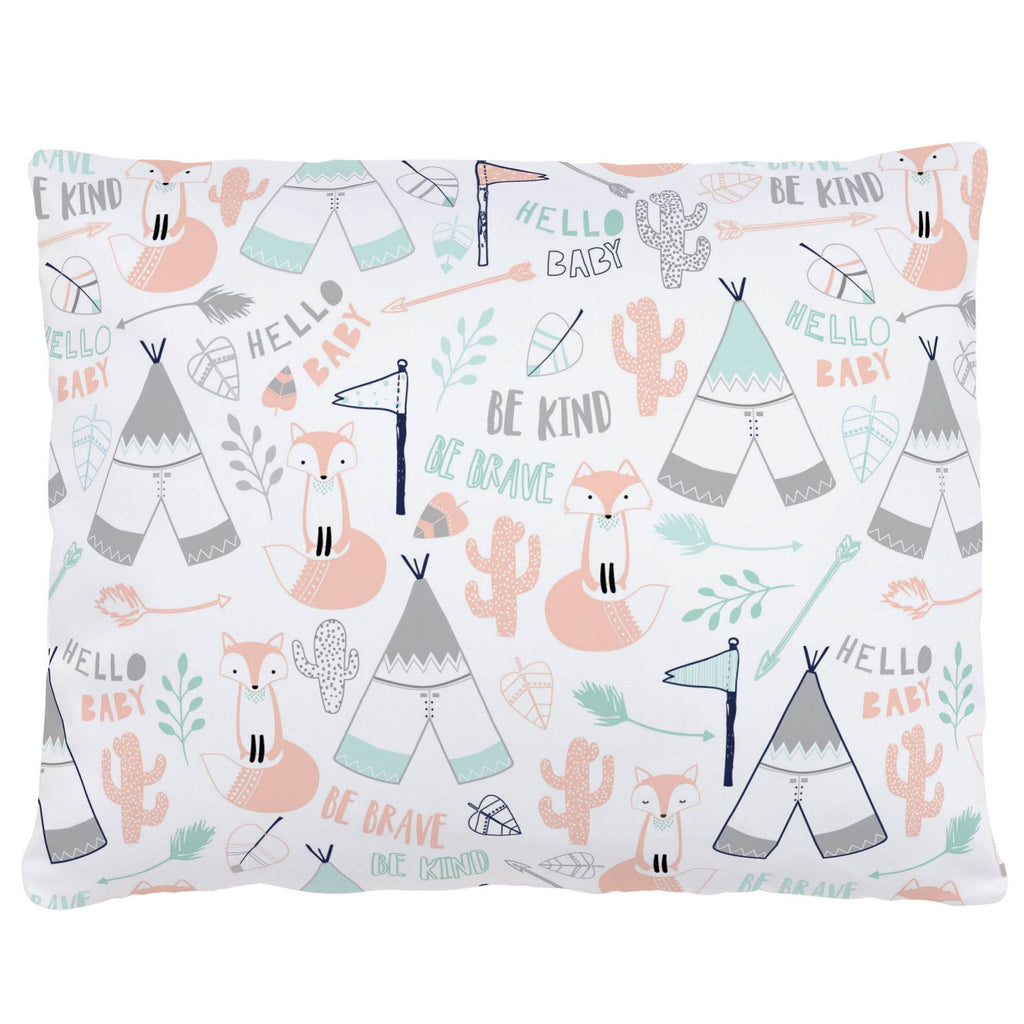 Product image for Peach Brave Fox Accent Pillow