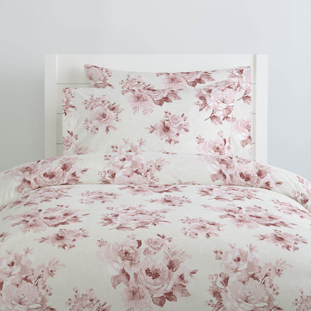 Product image for Rose Farmhouse Floral Duvet Cover
