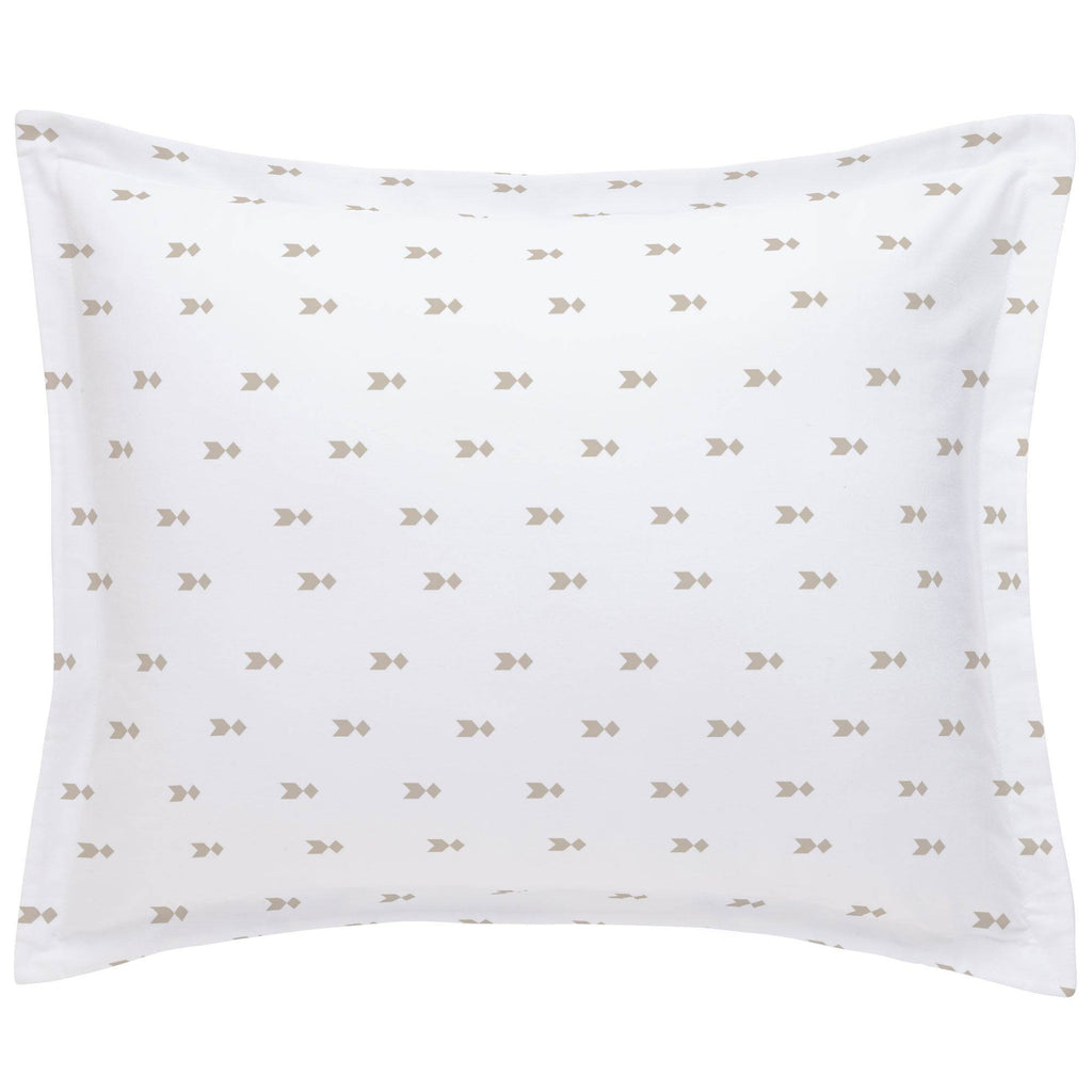 Product image for Taupe Flying Diamonds Pillow Sham
