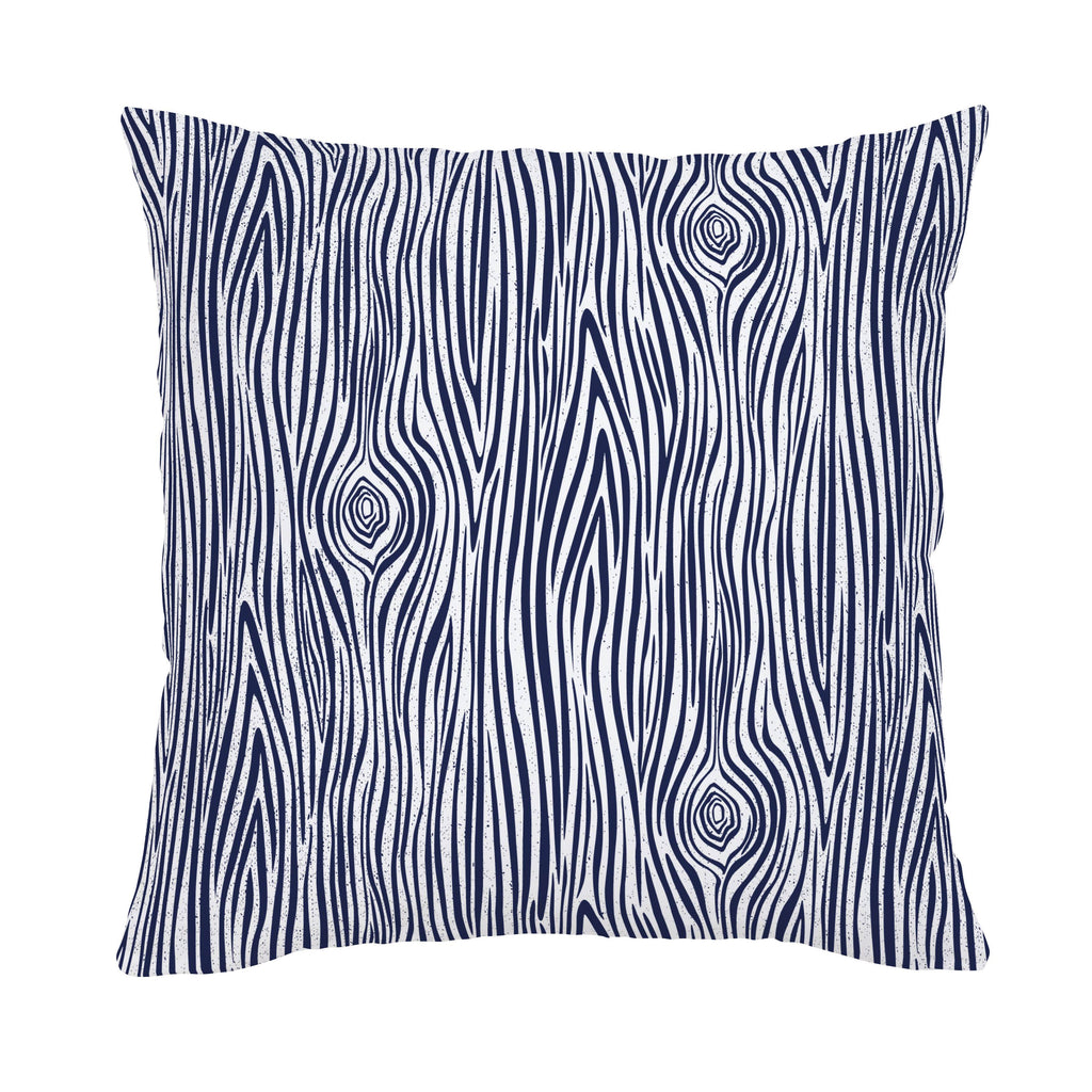 Product image for Navy Woodgrain Throw Pillow