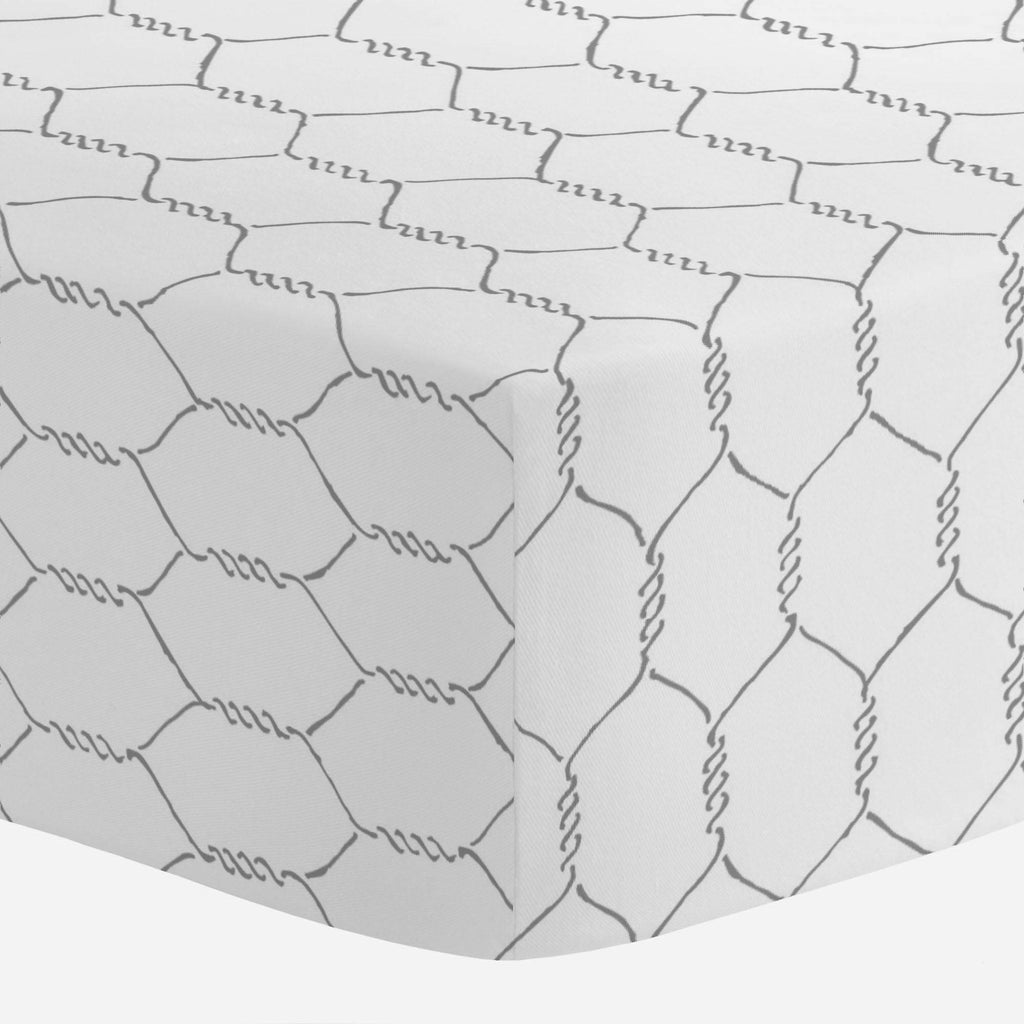 Product image for Gray Farmhouse Wire Crib Sheet