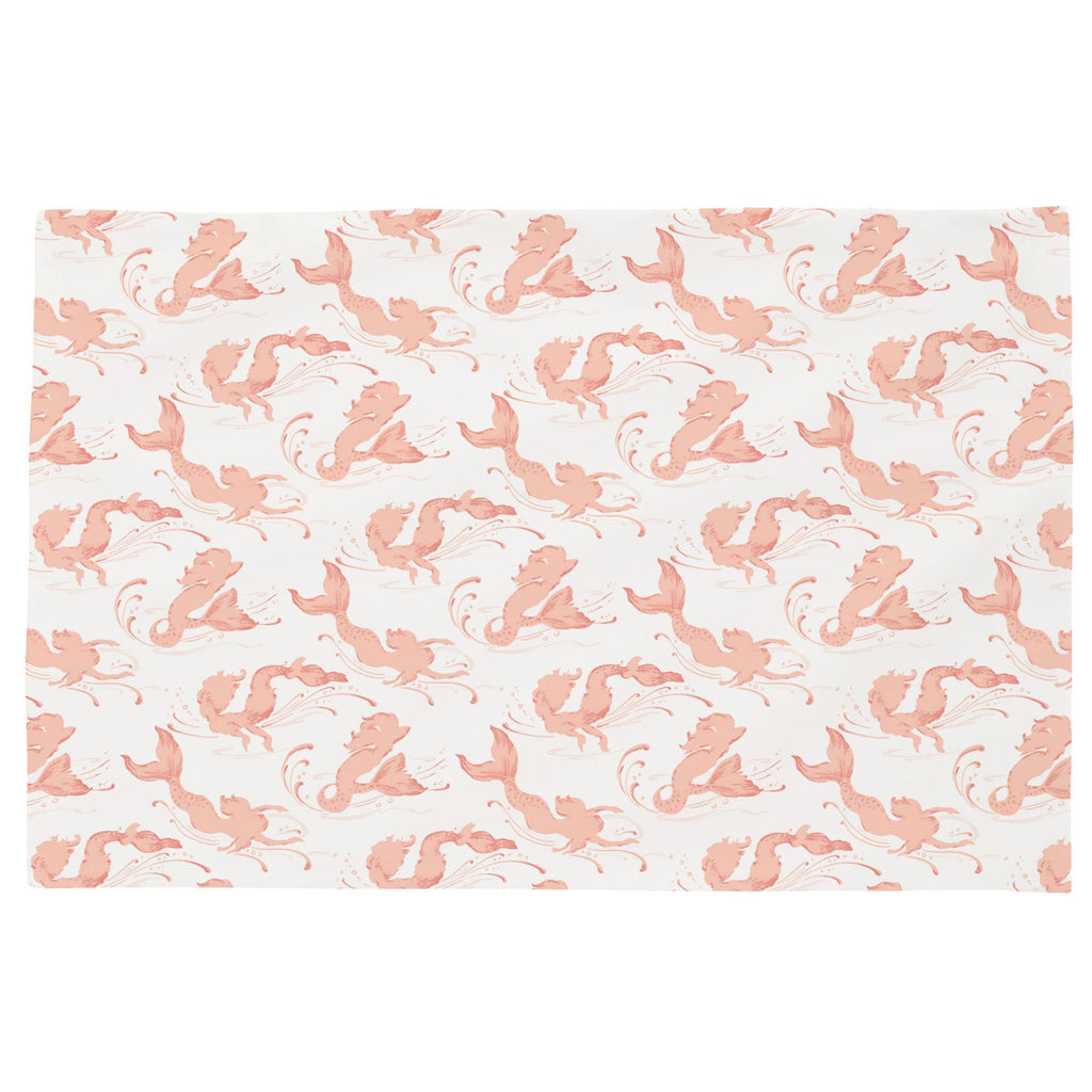 Product image for Peach Swimming Mermaids Toddler Pillow Case