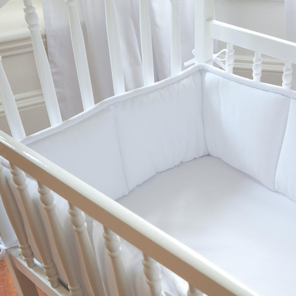 Product image for Solid White Cradle Bumper