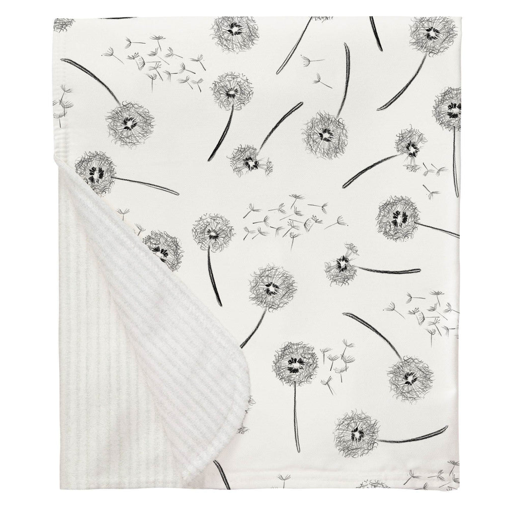 Product image for Hand Drawn Dandelion Baby Blanket
