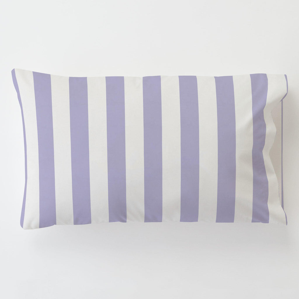 Product image for Lilac Stripe Toddler Pillow Case with Pillow Insert