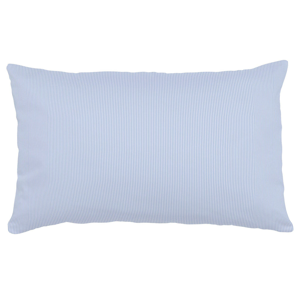 Product image for Blue Mini-Stripe Lumbar Pillow