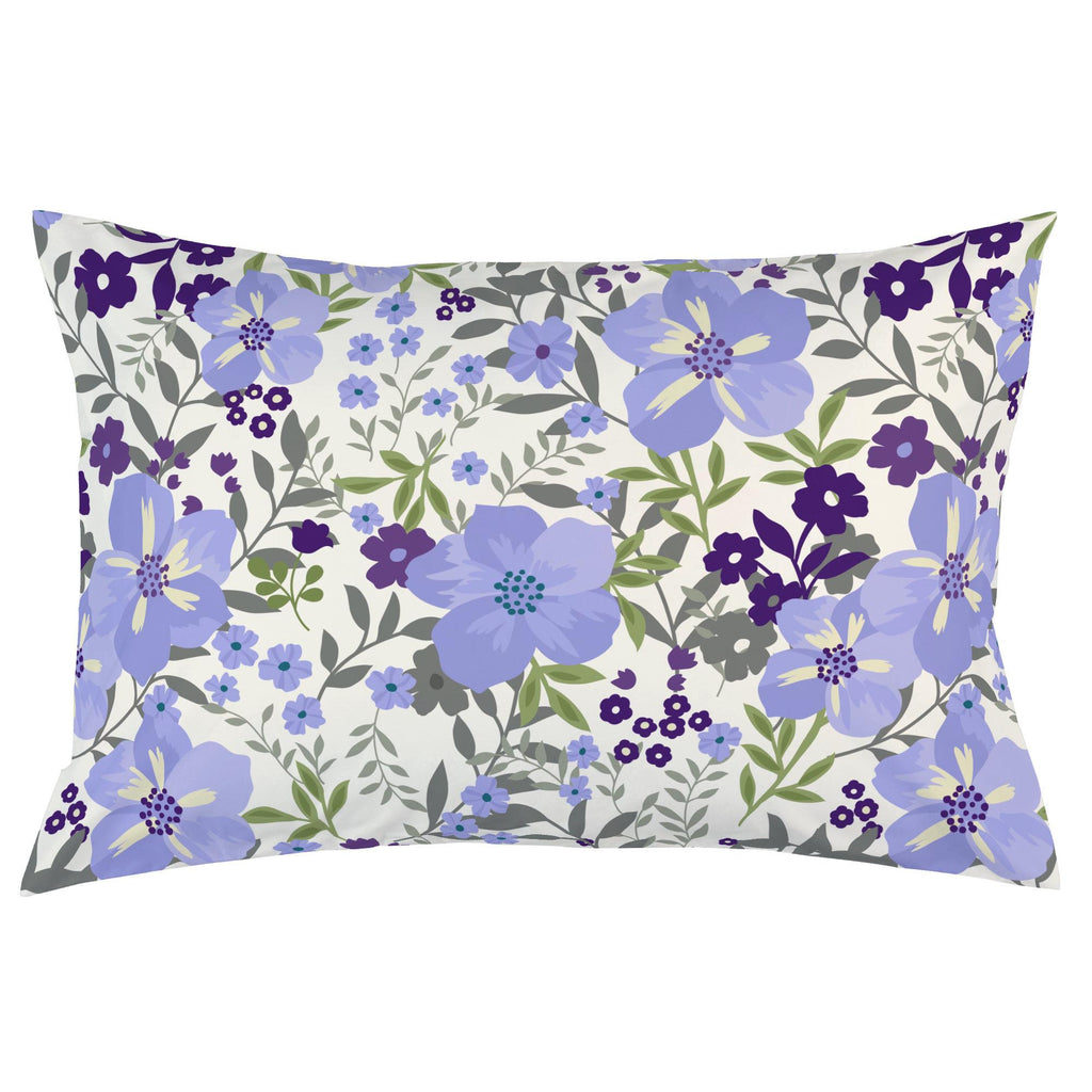 Product image for Lavender Floral Tropic Pillow Case