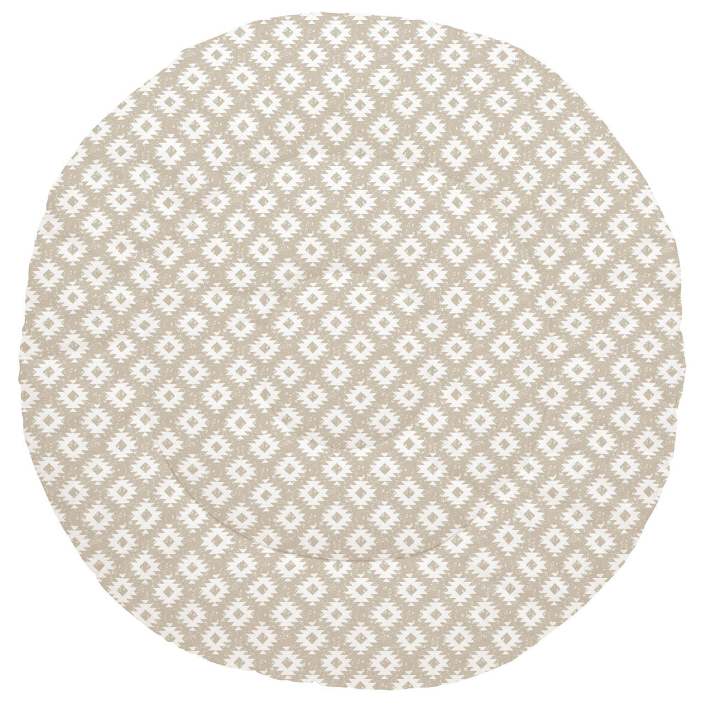 Product image for Taupe and White Aztec Baby Play Mat