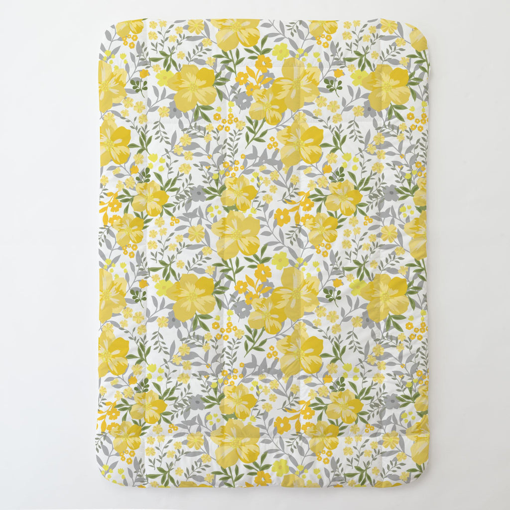 Product image for Yellow Floral Tropic Toddler Comforter
