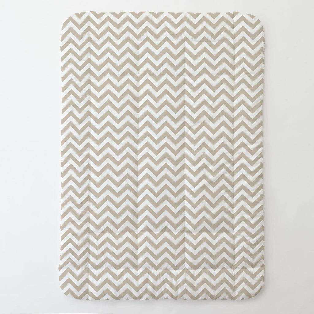 Product image for Taupe Zig Zag Toddler Comforter