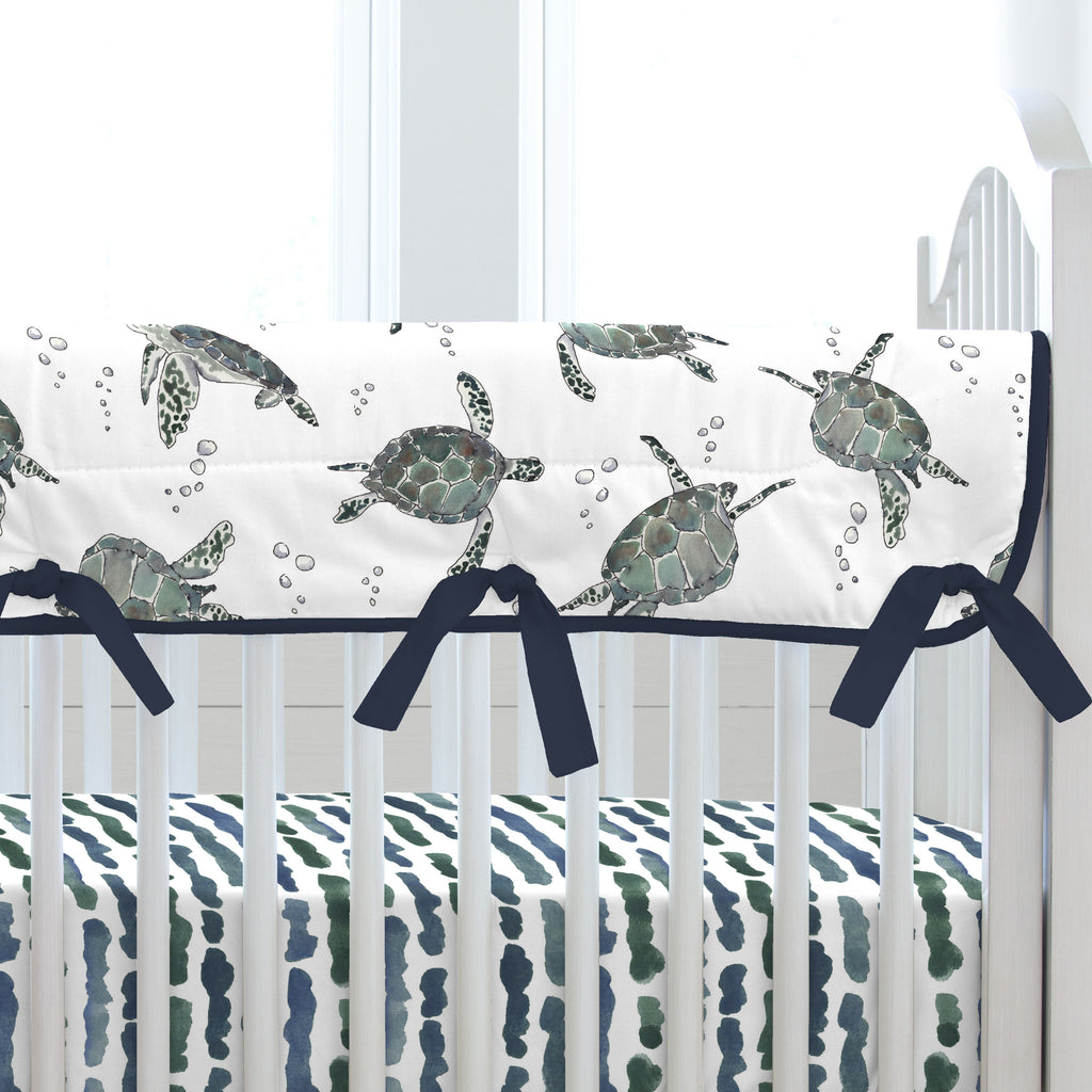 Product image for Sea Turtles Crib Rail Cover