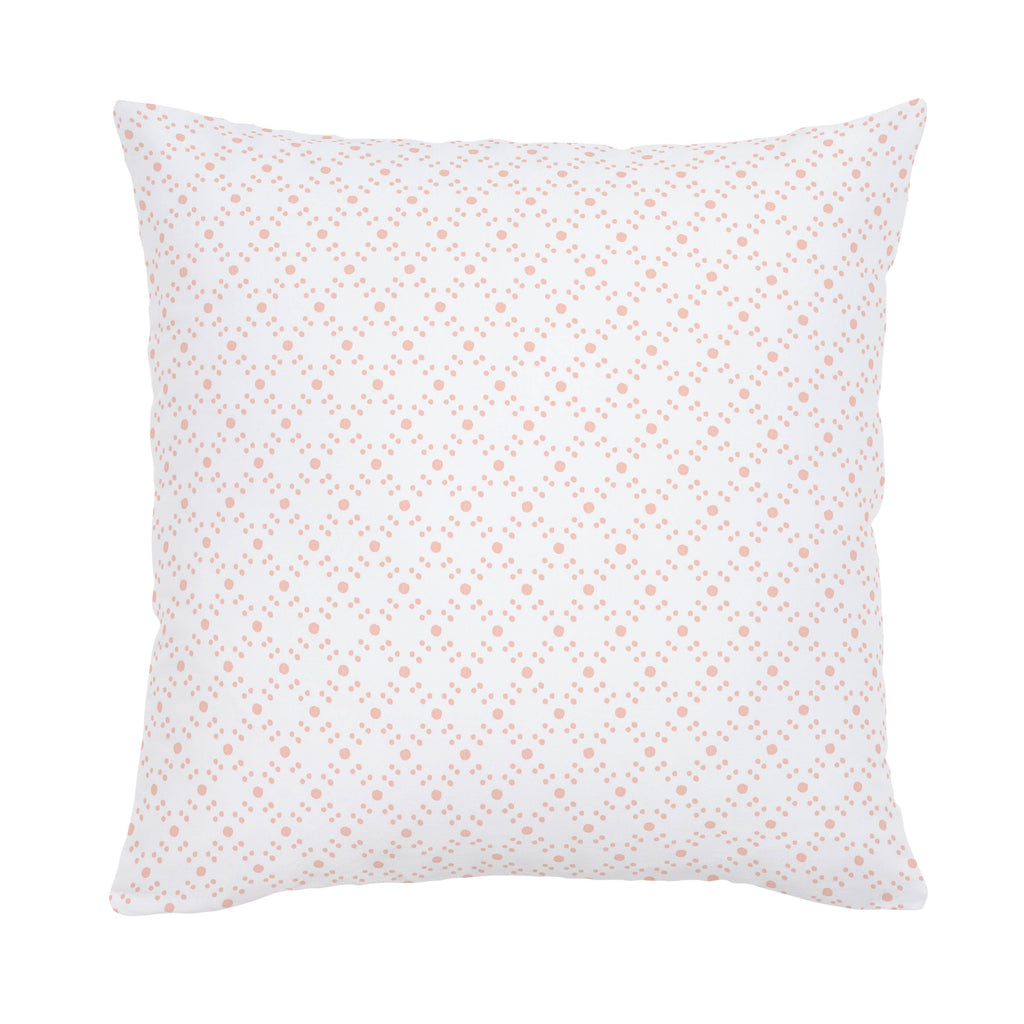 Product image for Peach Lattice Dots Throw Pillow