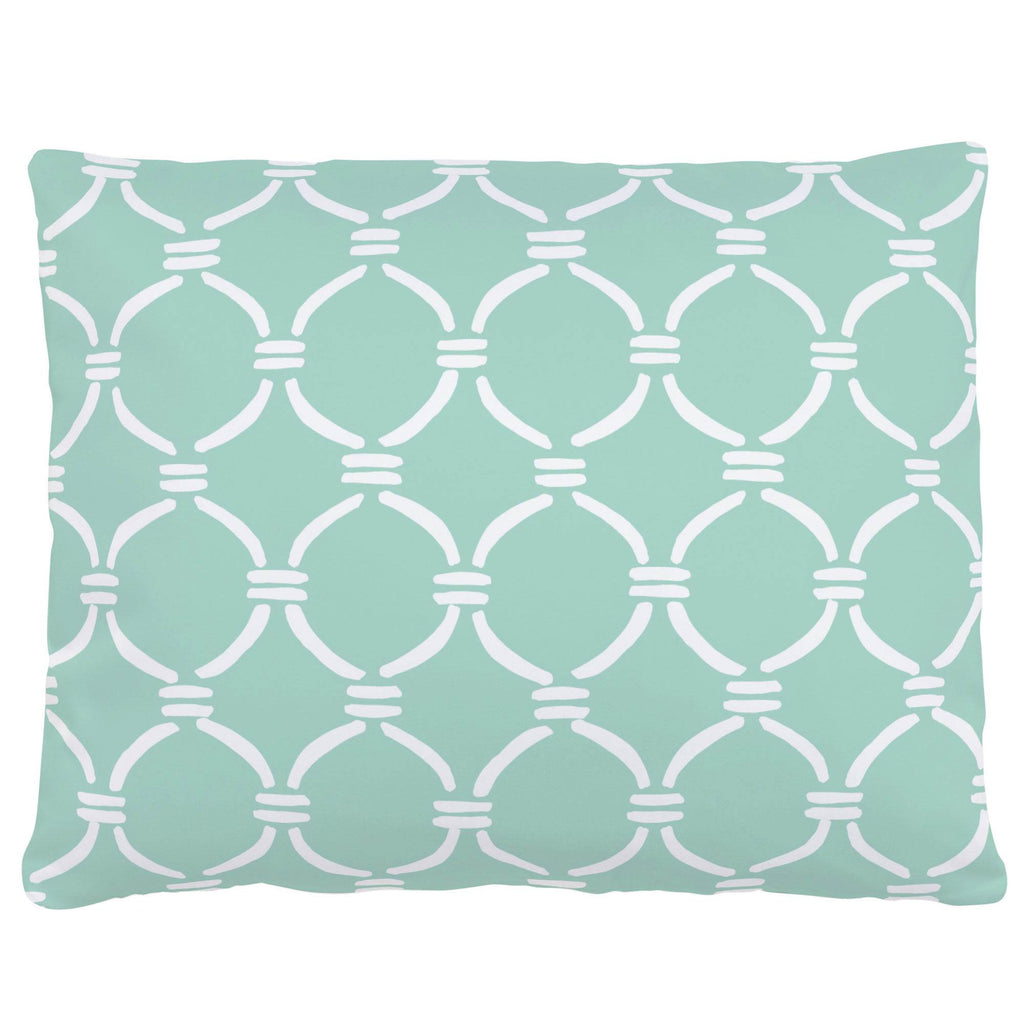 Product image for Mint and White Lattice Circles Accent Pillow