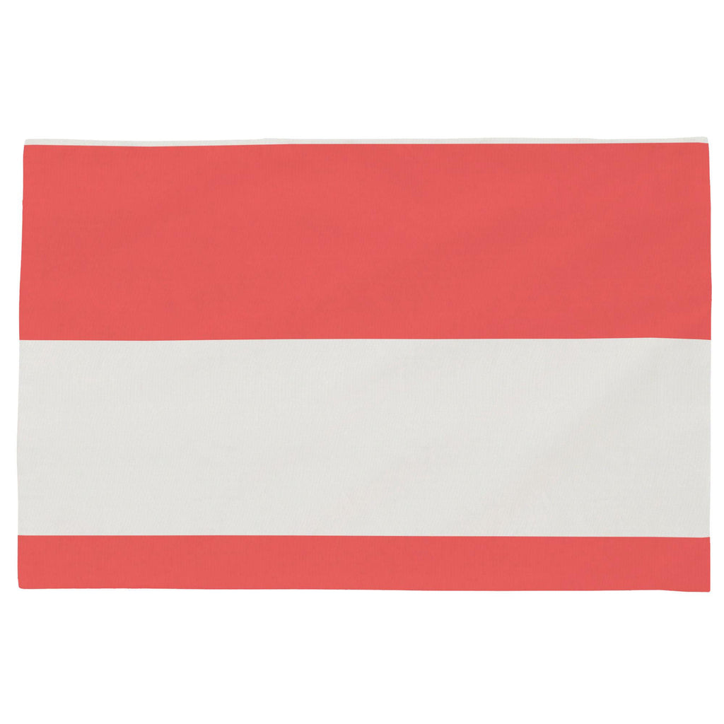 Product image for Coral Horizontal Stripe Toddler Pillow Case