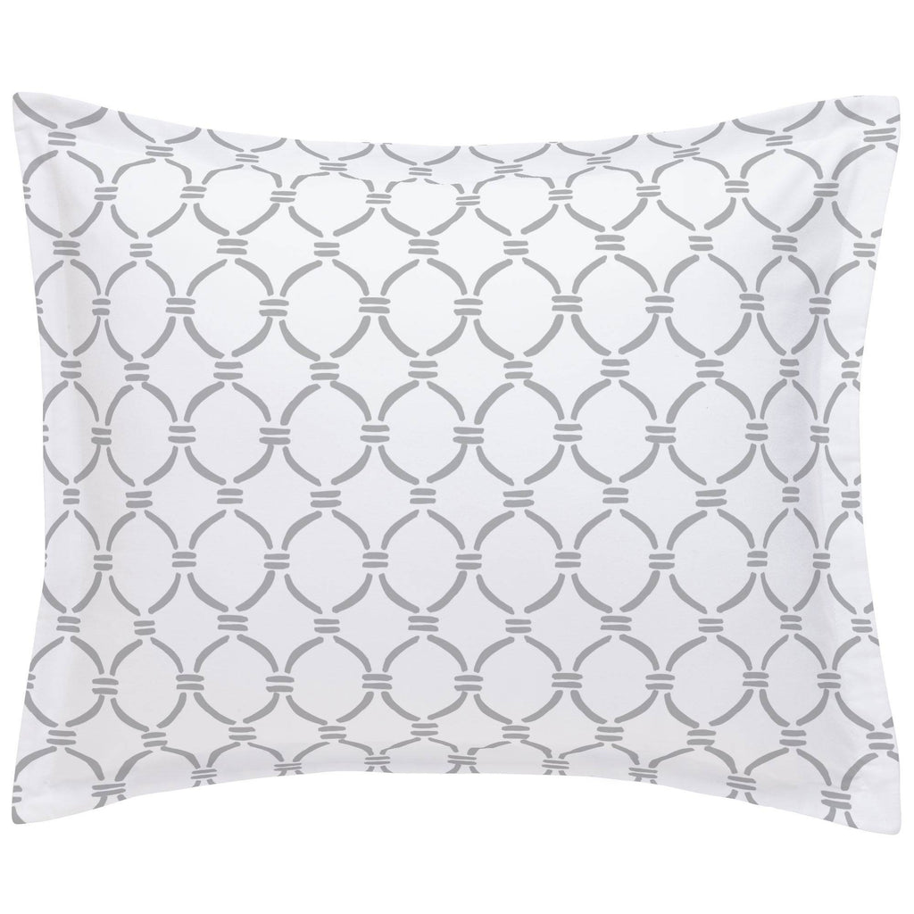 Product image for Silver Gray Lattice Circles Pillow Sham