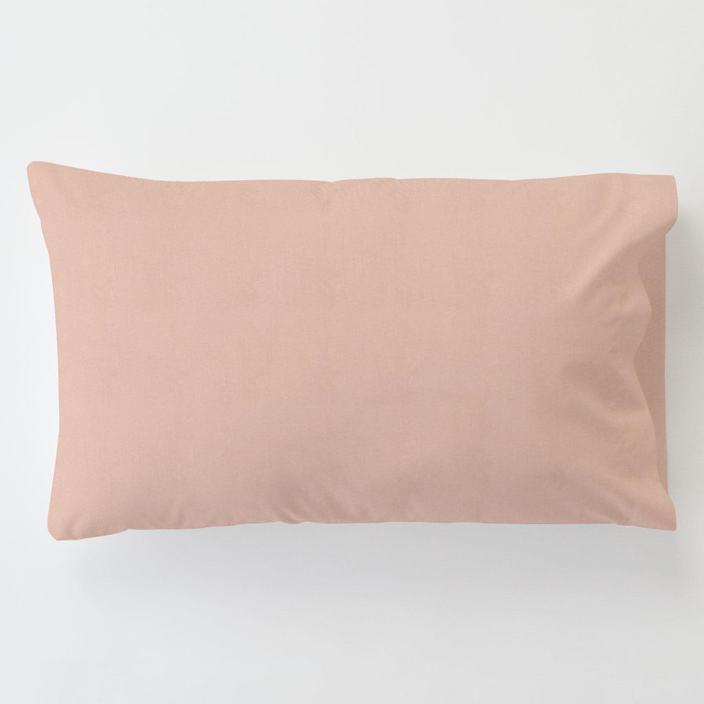 Product image for Solid Peach Toddler Pillow Case with Pillow Insert