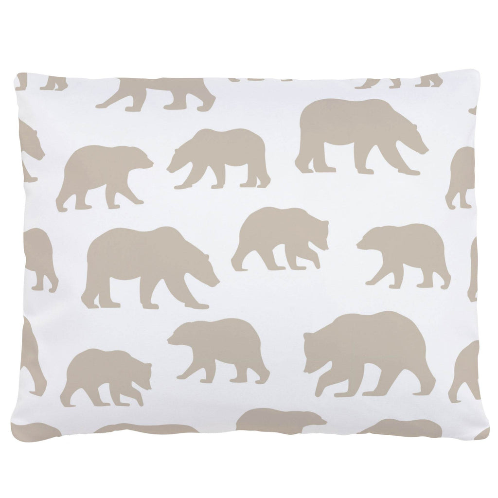 Product image for Taupe Bears Accent Pillow