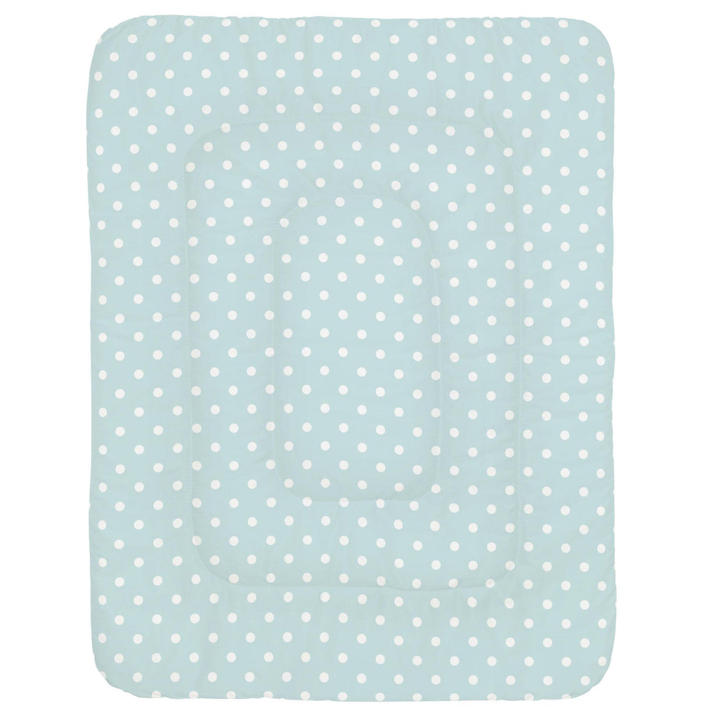 Product image for Mist and White Polka Dot Crib Comforter