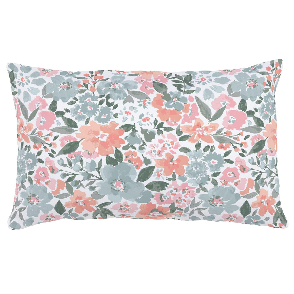 Product image for Peach Prairie Floral Lumbar Pillow