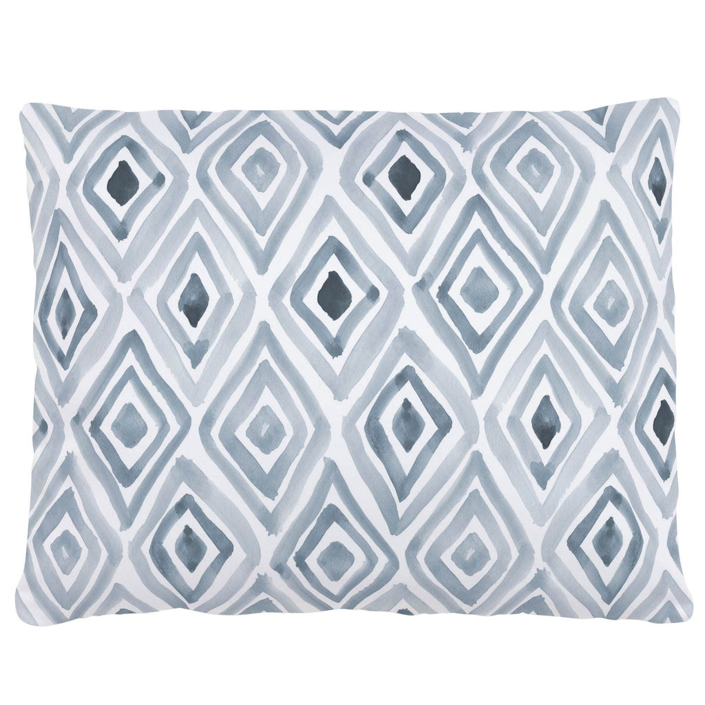 Product image for Steel Blue Painted Diamond Accent Pillow