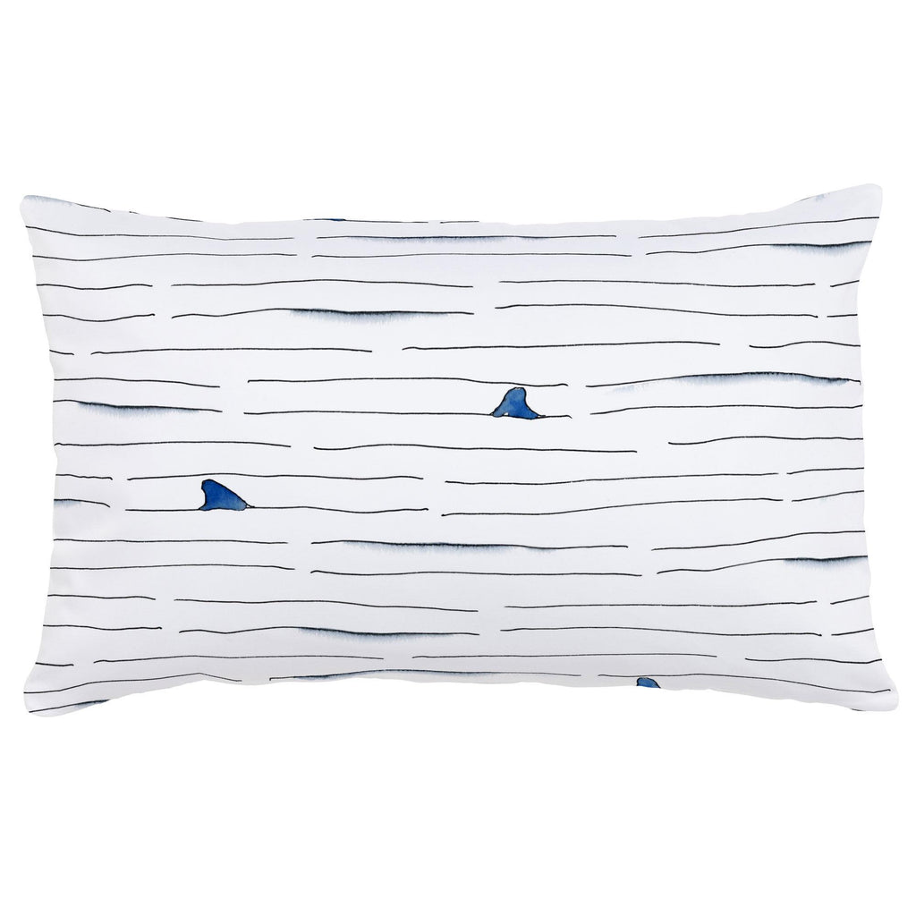 Product image for Shark Fin Stripe Lumbar Pillow