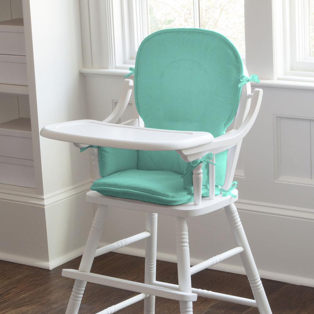 Product image for Solid Teal High Chair Pad