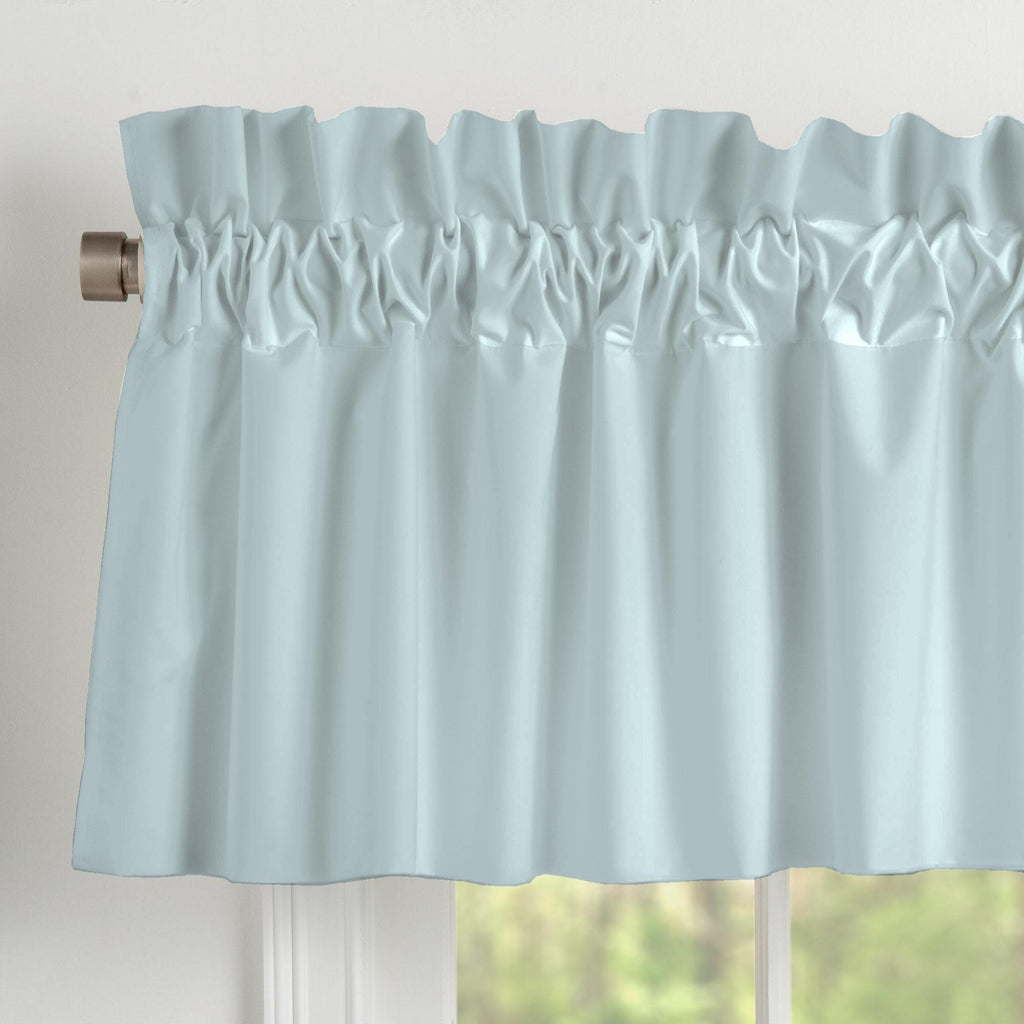 Product image for Solid Robin's Egg Blue Window Valance
