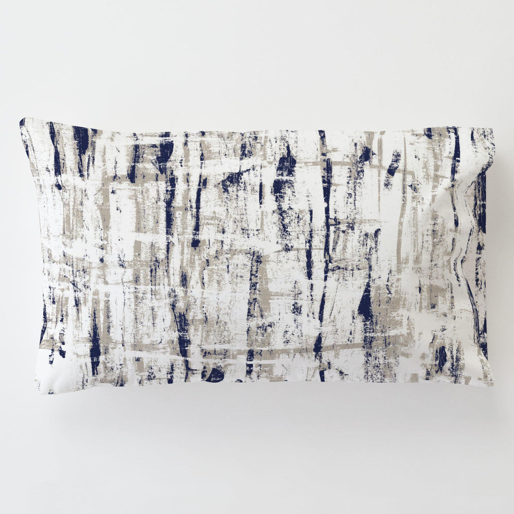 Product image for Navy and Taupe Birch Toddler Pillow Case with Pillow Insert