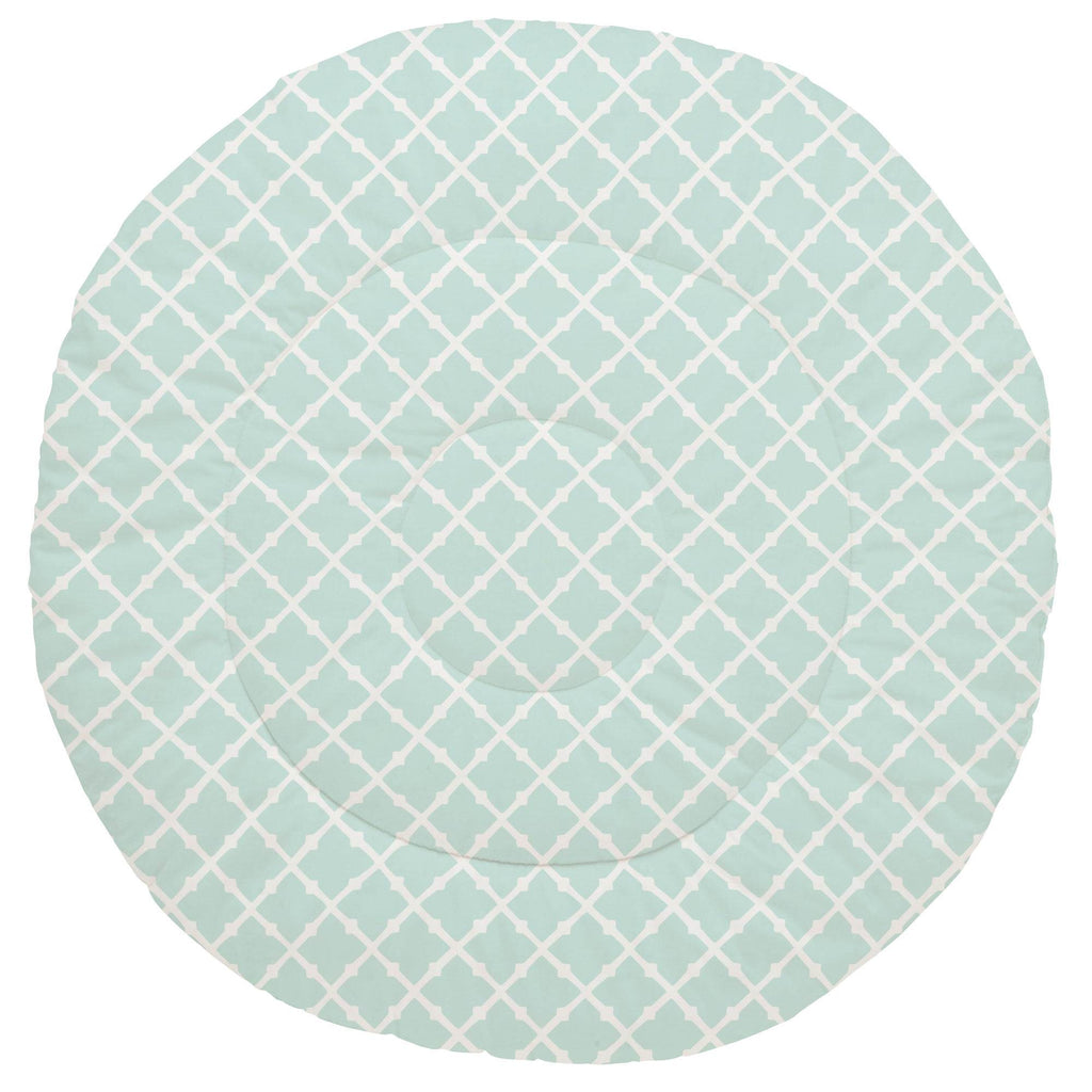 Product image for Icy Mint Lattice Baby Play Mat