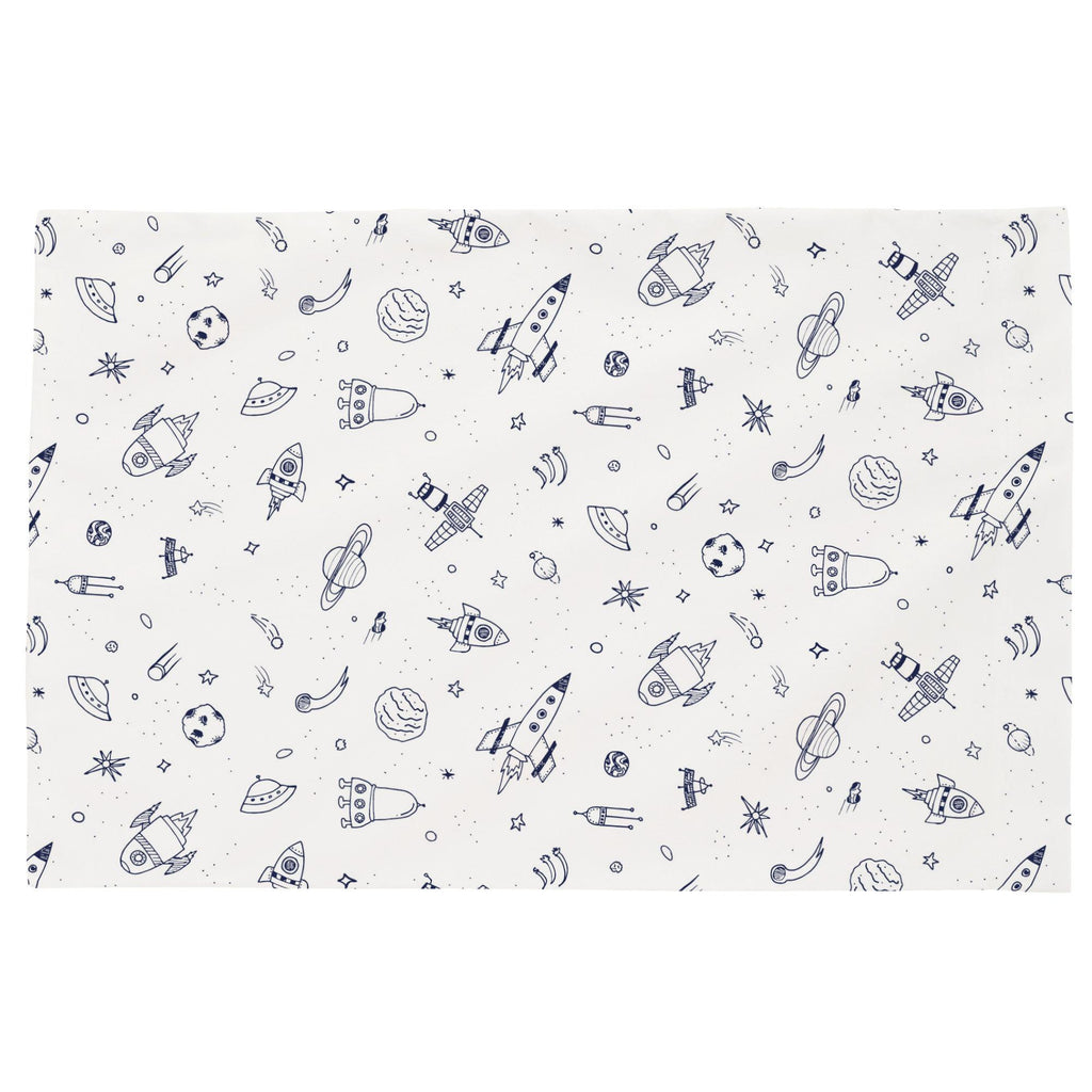 Product image for Windsor Navy and White Rockets Toddler Pillow Case