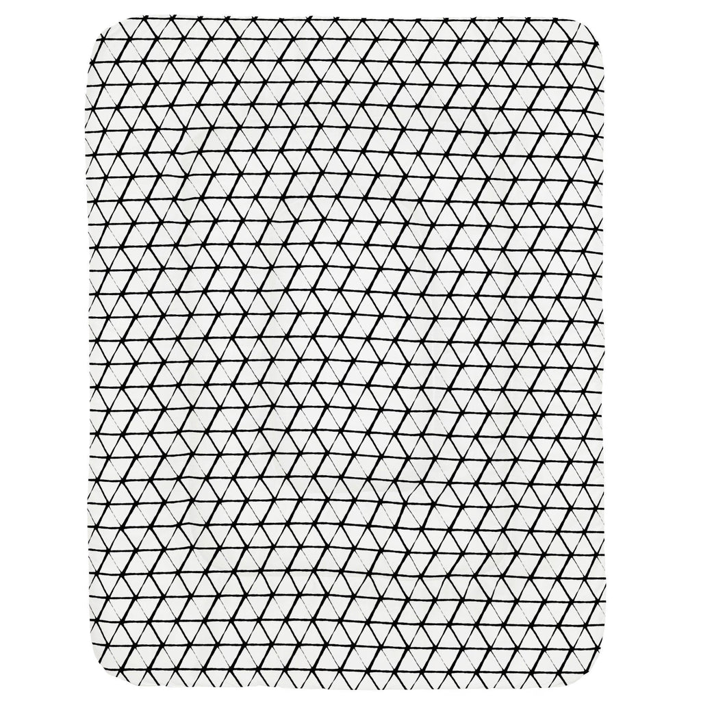 Product image for White and Onyx Aztec Triangles Crib Comforter