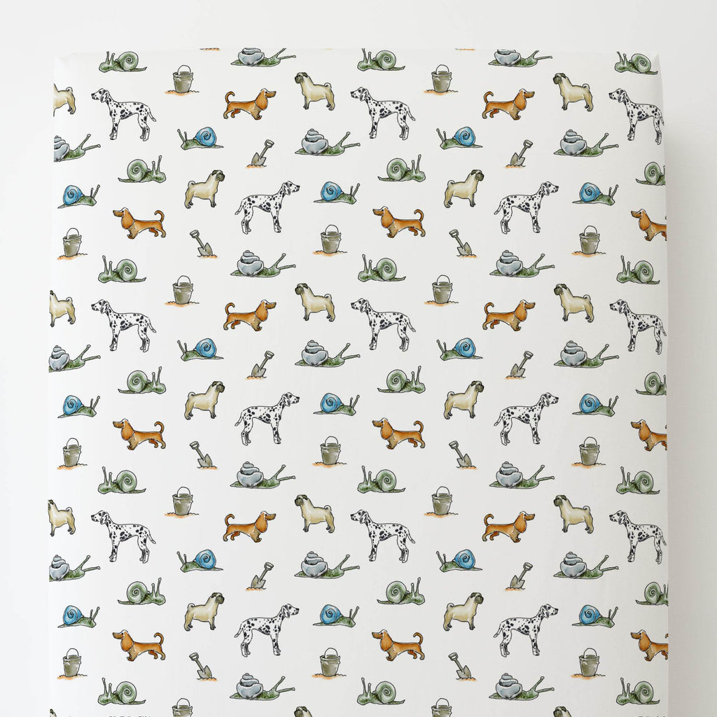 Product image for Snails and Tails Toddler Sheet Bottom Fitted