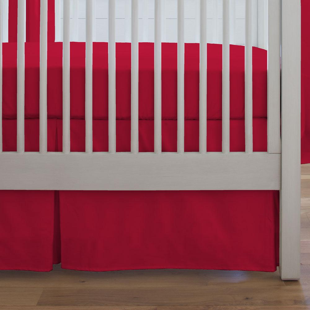 Product image for Solid Red Crib Skirt