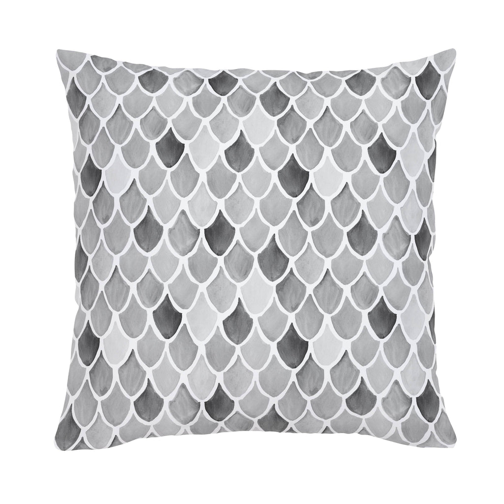 Product image for Gray Watercolor Scales Throw Pillow