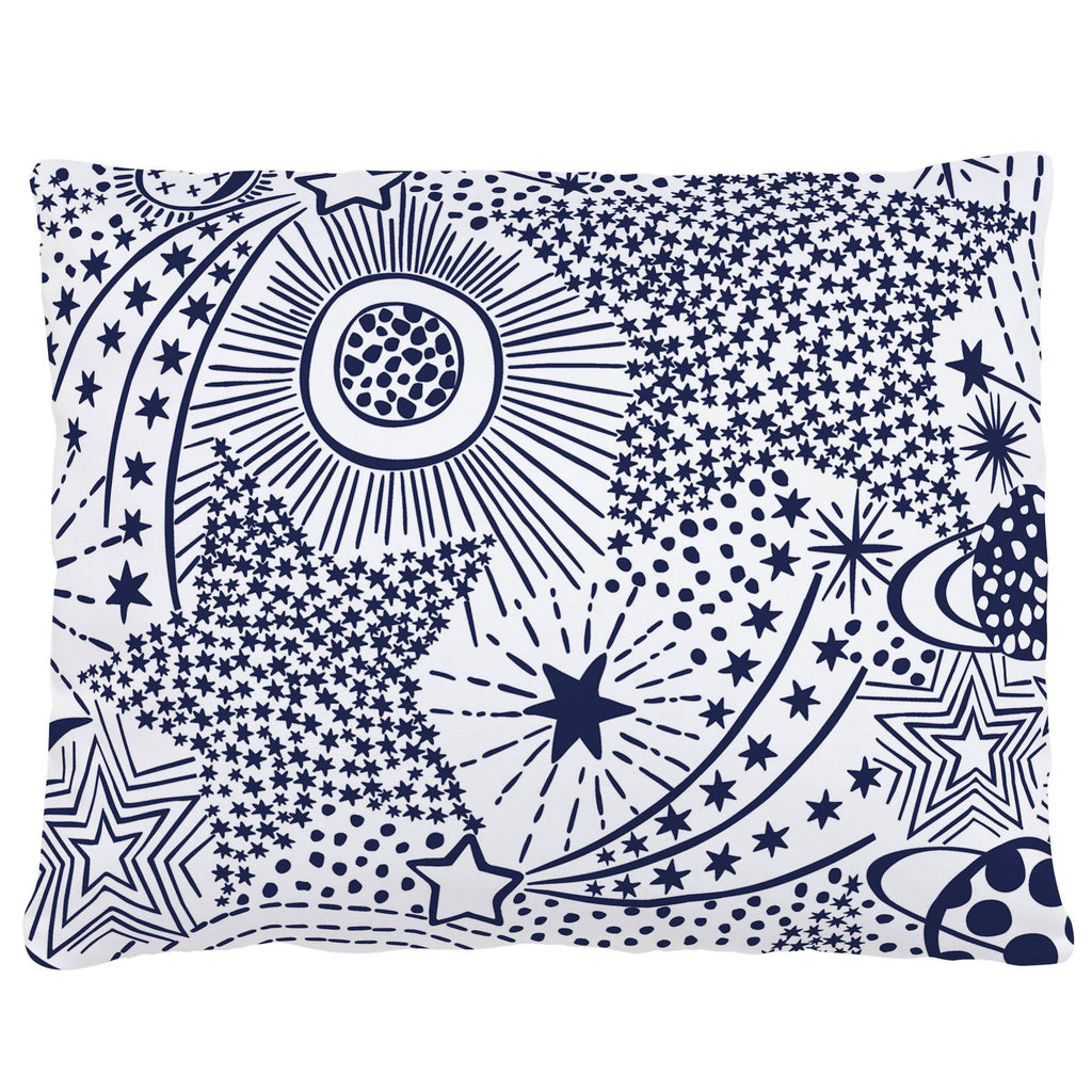Product image for Navy Galaxy Accent Pillow