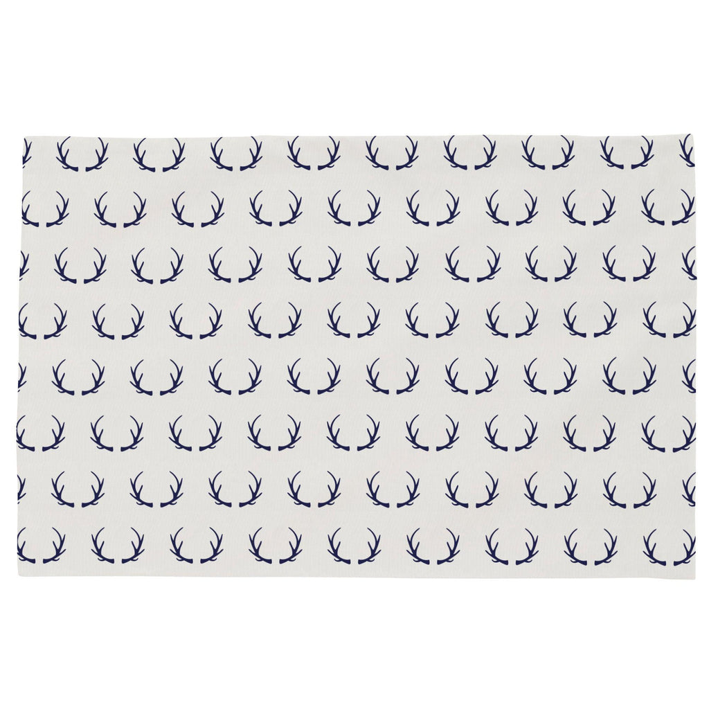 Product image for Windsor Navy Antlers Toddler Pillow Case