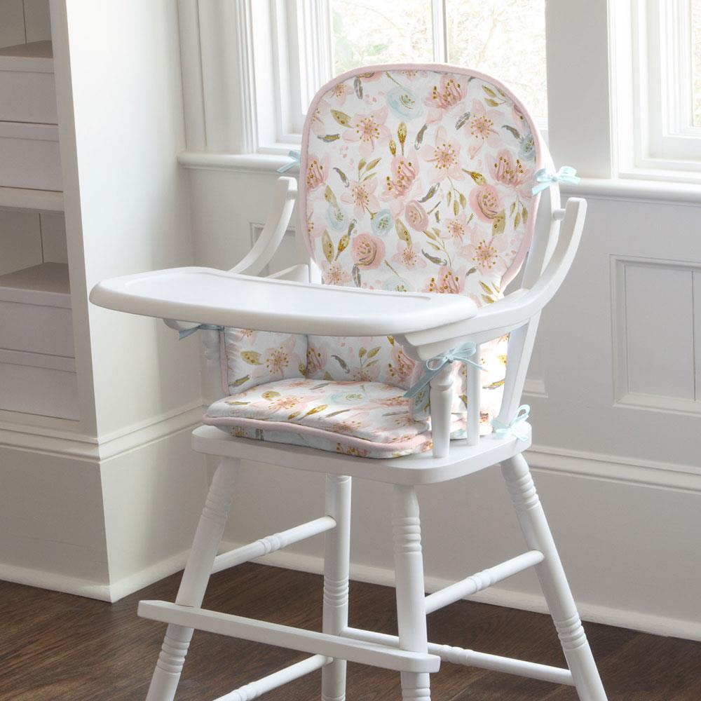 Product image for Pink Hawaiian Floral High Chair Pad