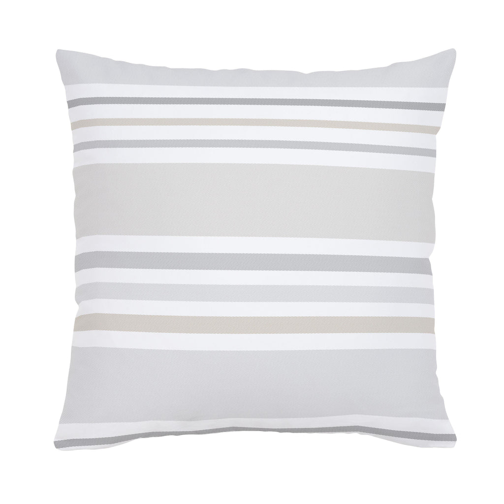 Product image for French Gray and Taupe Summer Stripe Throw Pillow