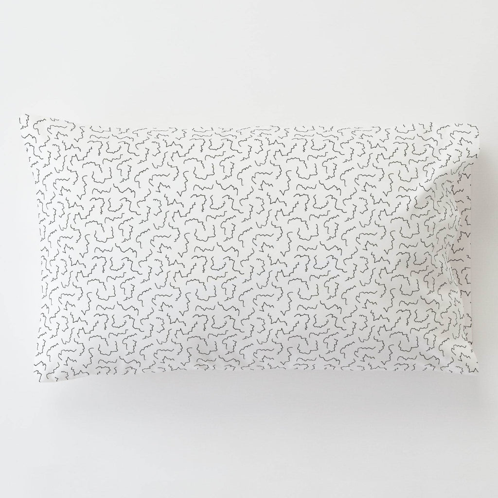 Product image for Slate Squiggles Toddler Pillow Case with Pillow Insert