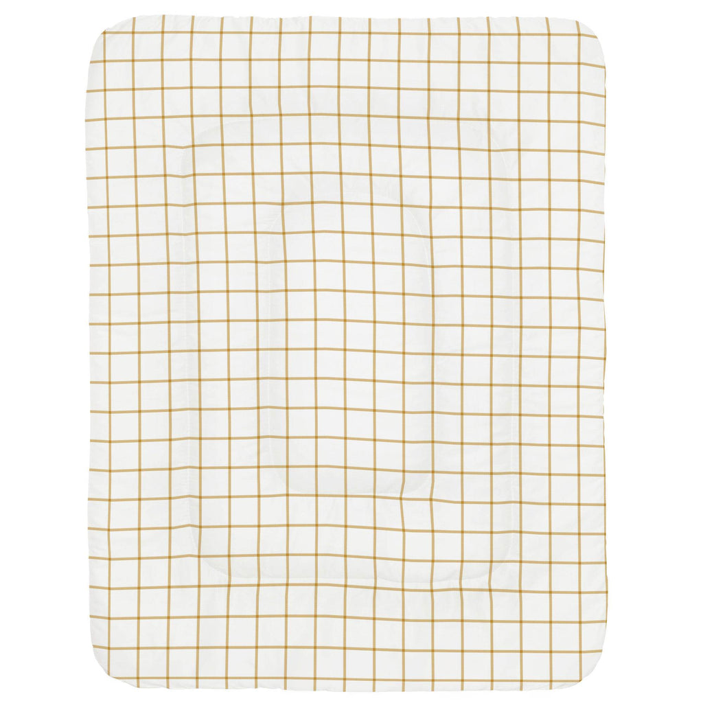 Product image for Mustard Windowpane Crib Comforter
