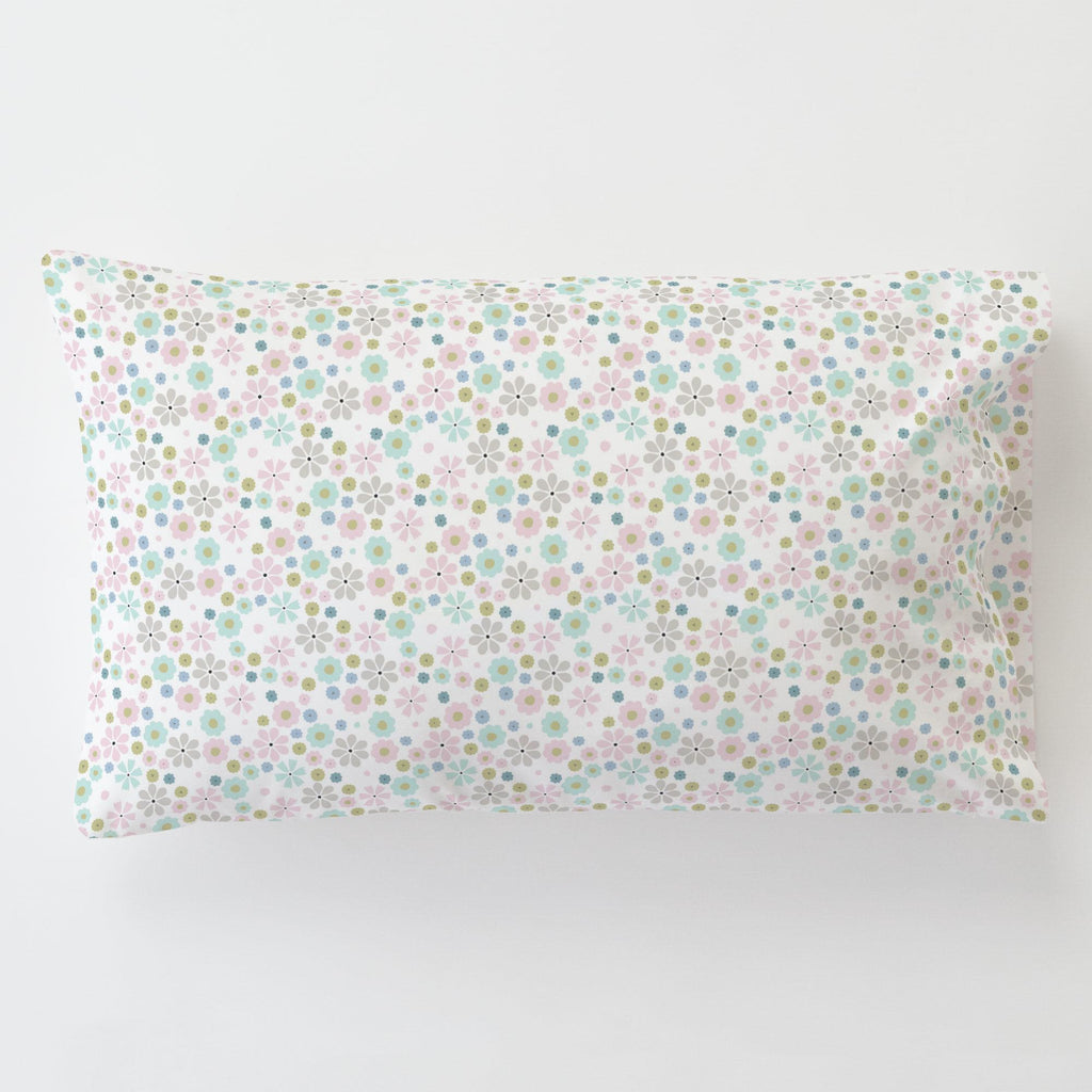 Product image for Pink Spring Flowers Toddler Pillow Case with Pillow Insert