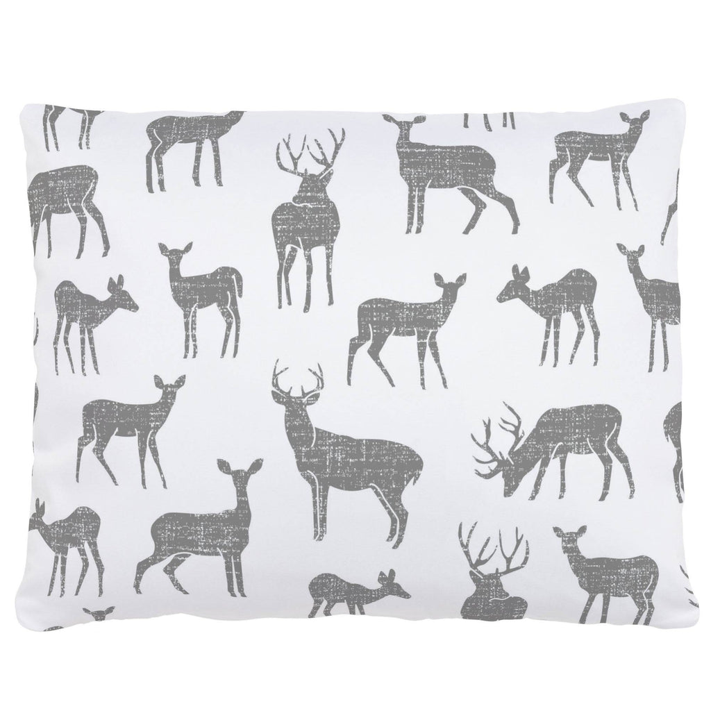Product image for Cloud Gray Deer Accent Pillow