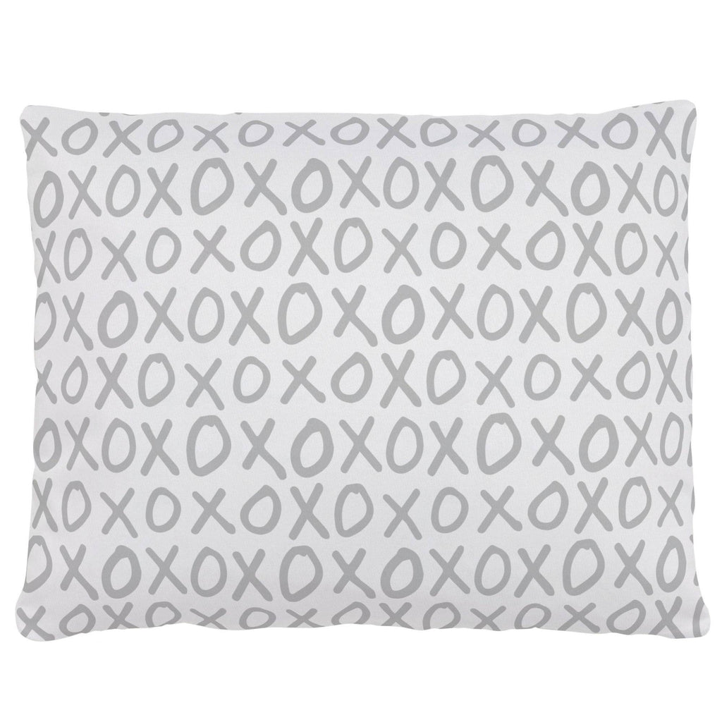 Product image for Silver Gray XO Accent Pillow